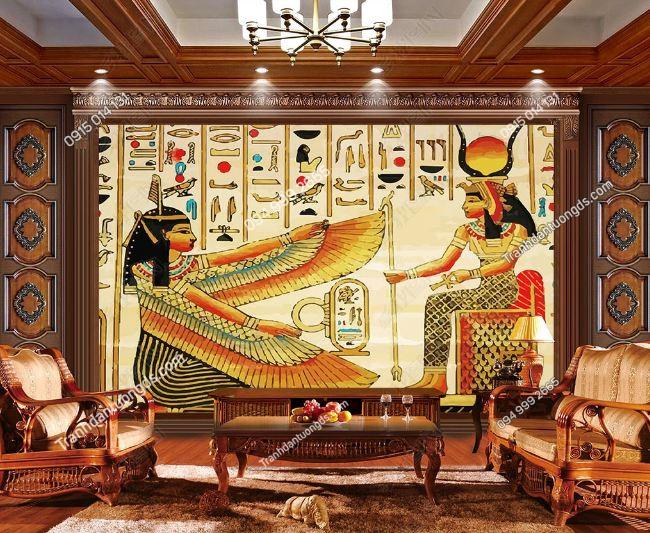 Tranh phong cách ai cập dán tường phòng khách DS_15299922