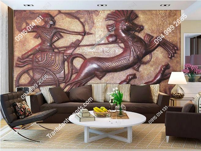 Tranh phong cách ai cập dán tường phòng khách DS_15382954