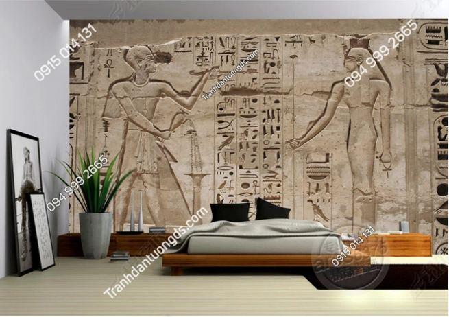 Tranh phong cách ai cập dán tường phòng ngủ DS_13806839