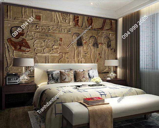 Tranh phong cách ai cập dán tường phòng ngủ DS_19046303