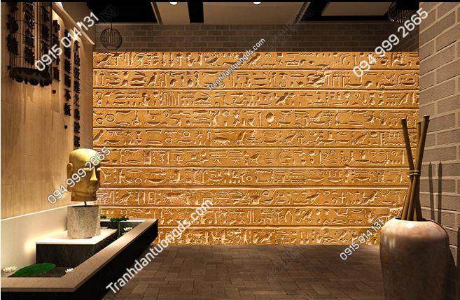 Tranh phong cách ai cập dán tường phòng spa yoga DS_15477191