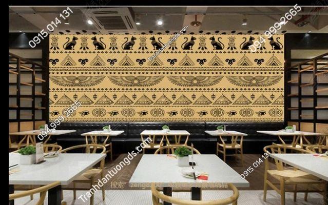 Tranh phong cách ai cập dán tường quán ăn - cafe DS_14816898