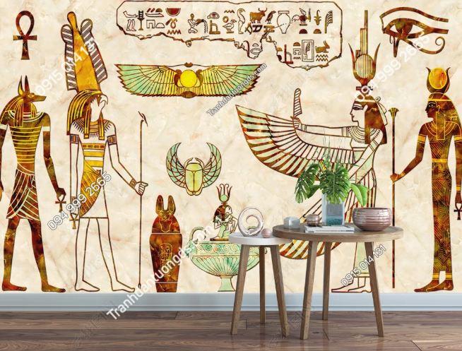 Tranh phong cách ai cập dán tường quán ăn - cafe DS_15125560