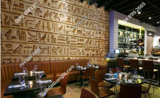 Tranh phong cách ai cập dán tường quán ăn - cafe DS_15658904