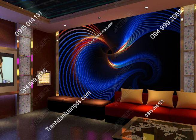 Tranh sóng 3D cho quán bar karaoke DS_17603443