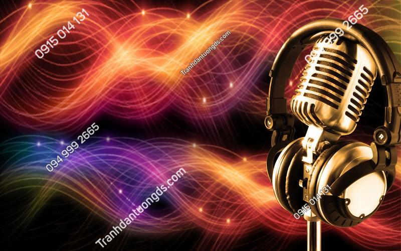 Tranh sóng nhạc cho quán bar karaoke- (309)