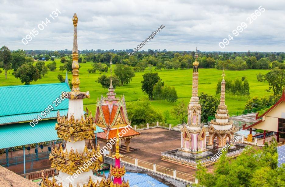 Tranh tường cảnh chùa Phrathat Ruang Rong 1917450488