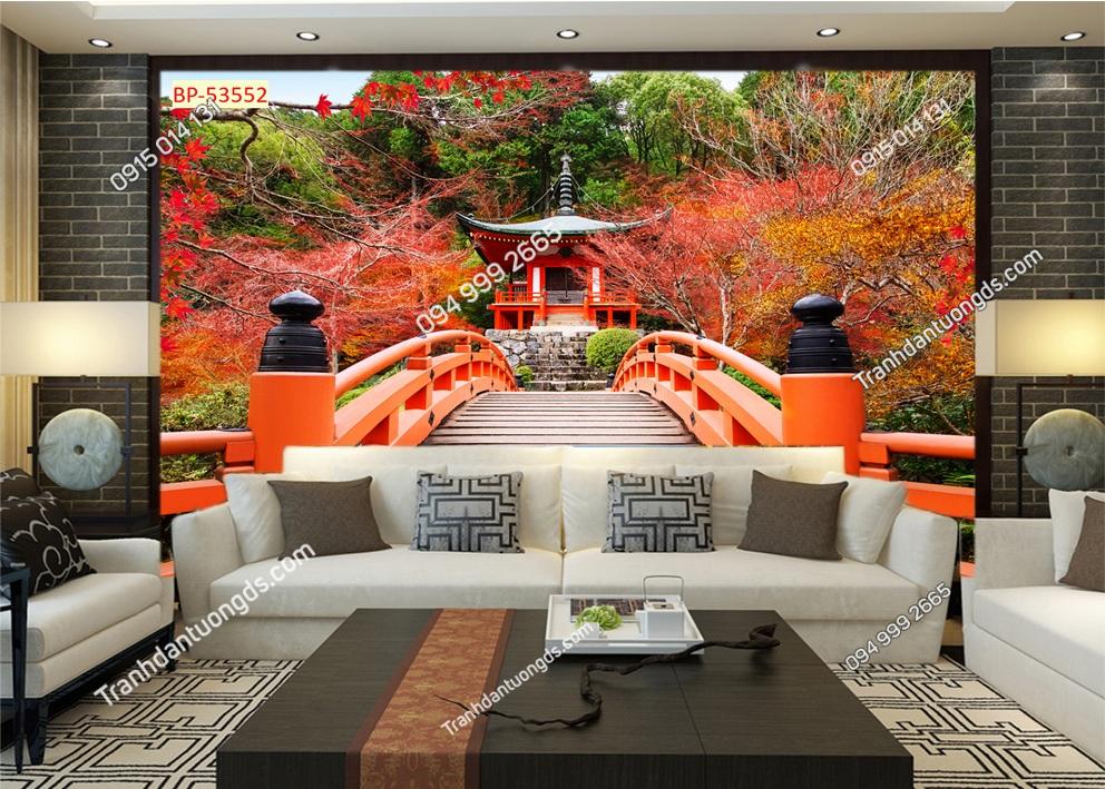 Tranh tường công viên Nhật bản 53552