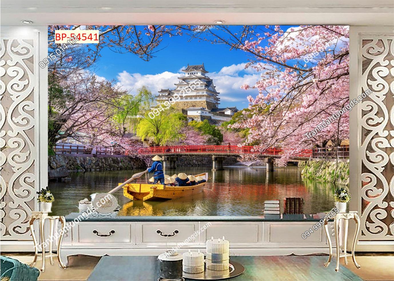 Tranh tường hoa anh đào Nhật Bản 54541