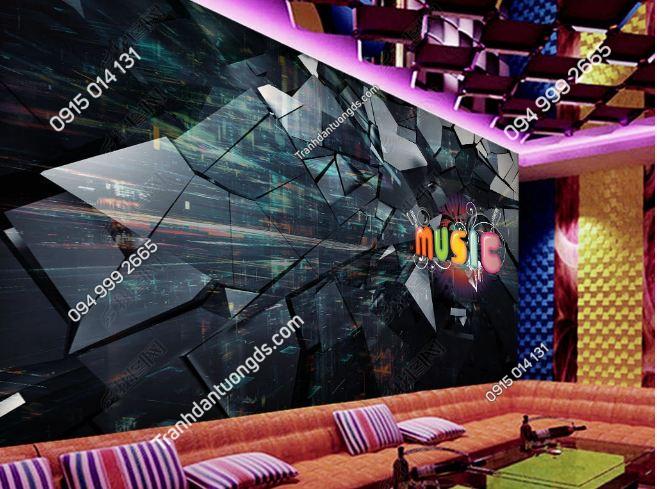 Tranh tường karaoke giả kính 3D DS_18870100