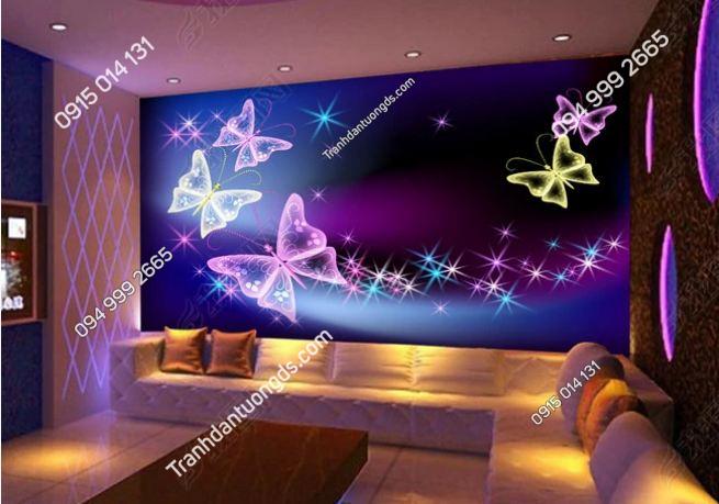 Tranh tường karaoke họa tiết bướm 3D DS_12565495