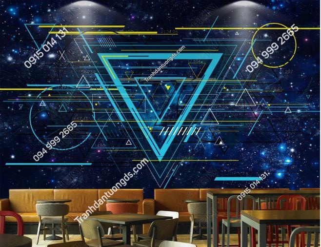 Tranh tường karaoke họa tiết hình học DS_19184745
