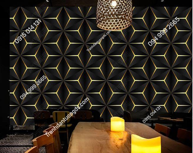Tranh tường karaoke họa tiết hình học DS_24362855
