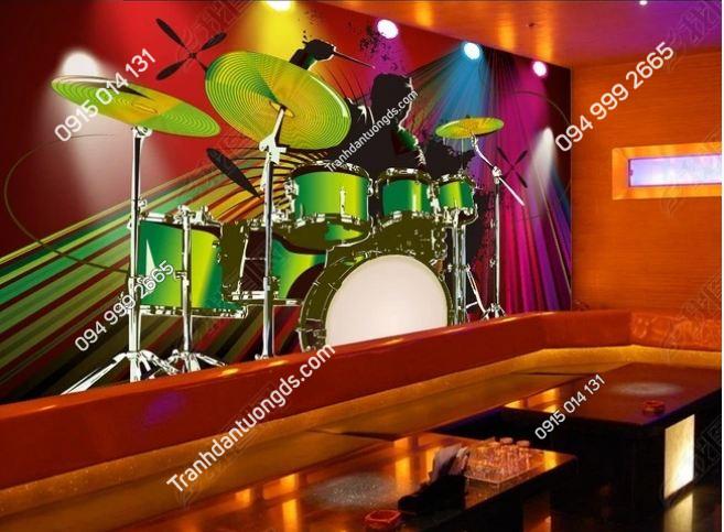Tranh tường karaoke họa tiết nhạc công DS_13005464