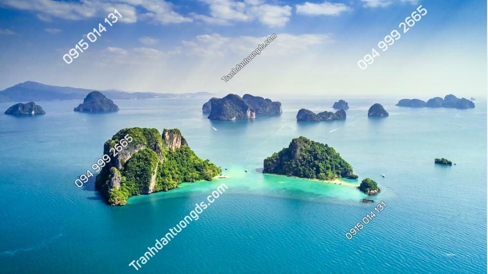 Tranh tường quần đảo xung quanh Koh Yao Noi, Phuket, Thái Lan 1107675575