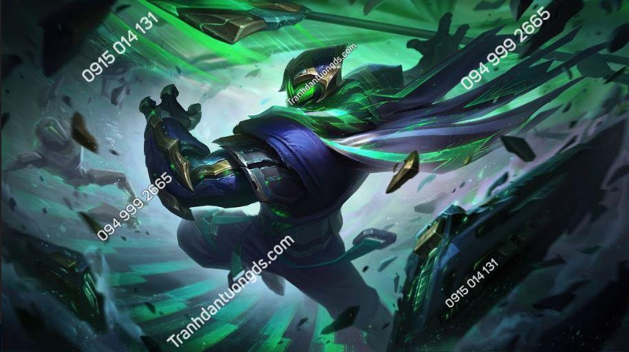 Tranh tường tiệm net conqueror-jax-league-of-legends