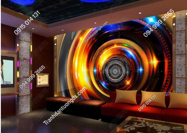 Tranh vòng tròn 3D cho quán bar karaoke DS_17632950