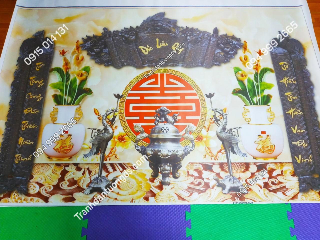 tranh hoành phi câu đối bàn thờ gia tiên