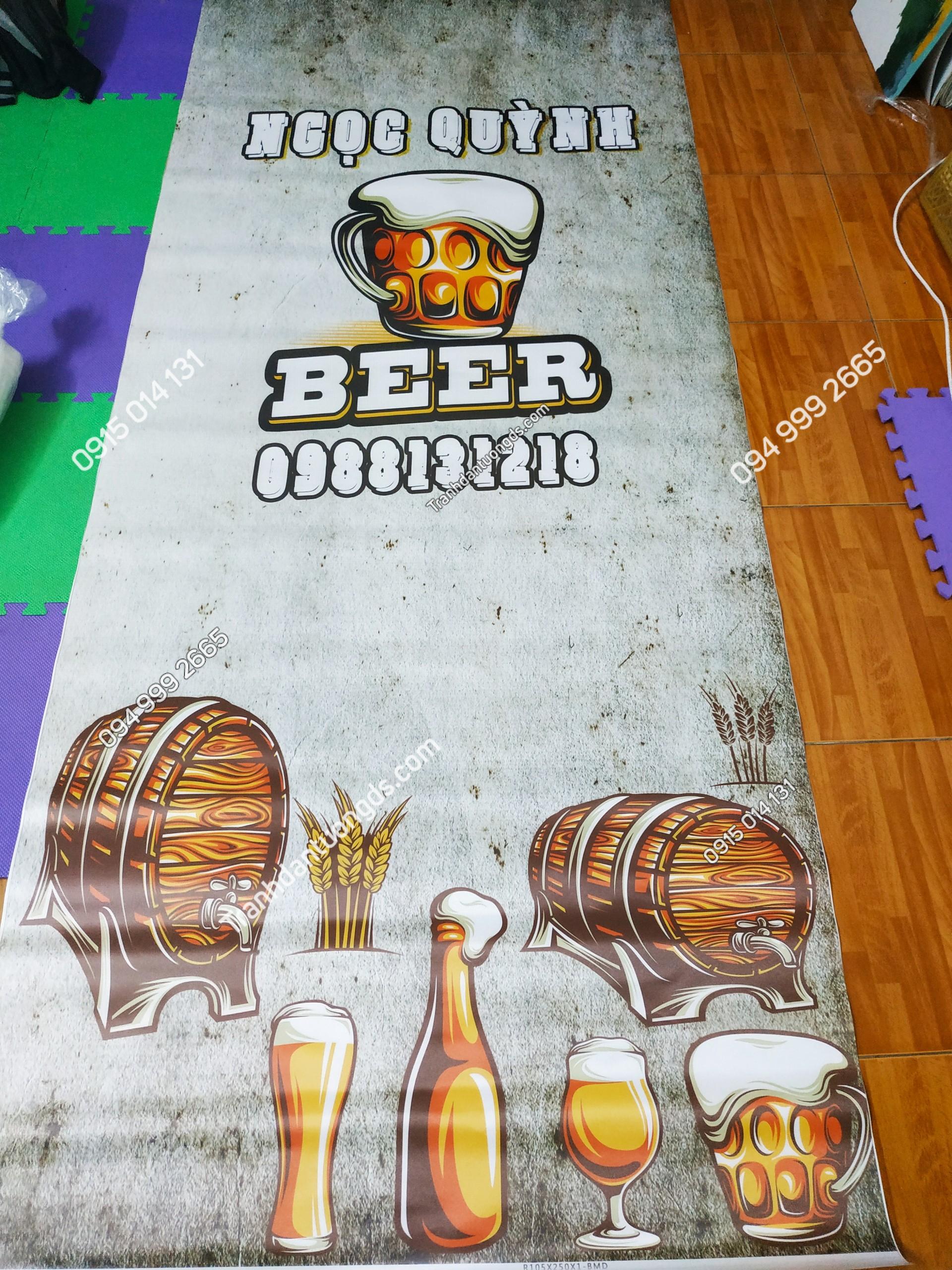 Tranh bia ngọc quỳnh