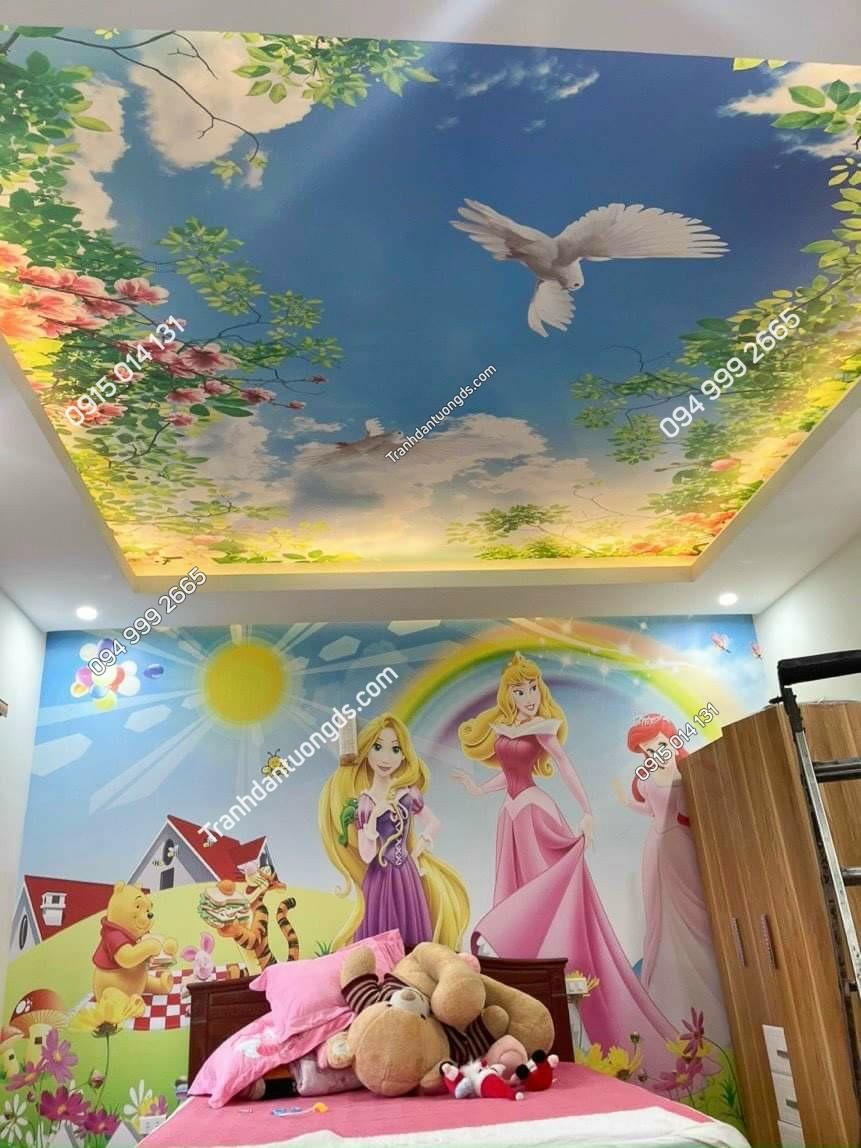 tranh dán trần dán tường phòng bé