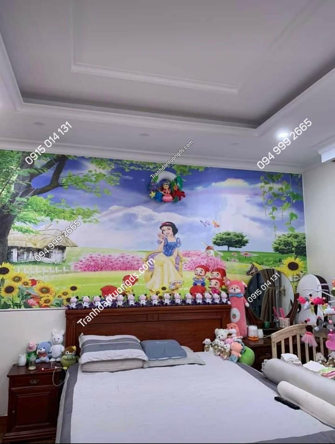tranh dán tường công chúa