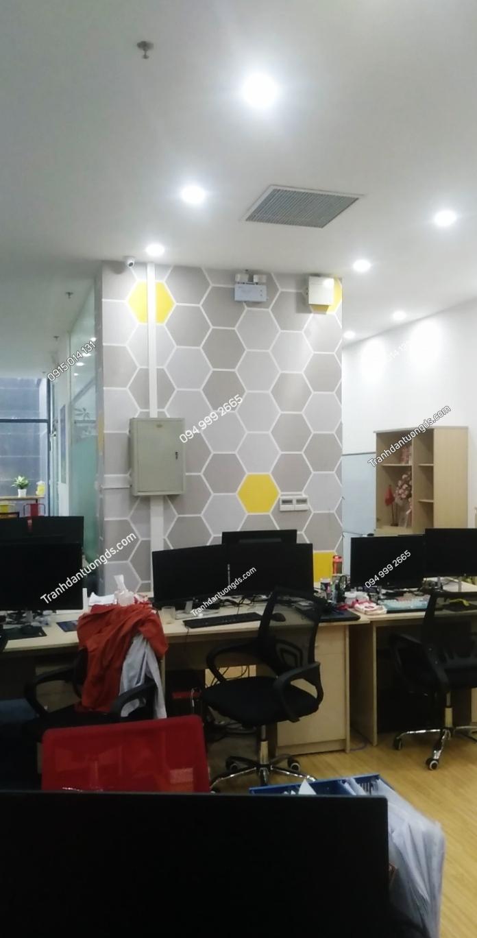 tranh dán tường văn phòng