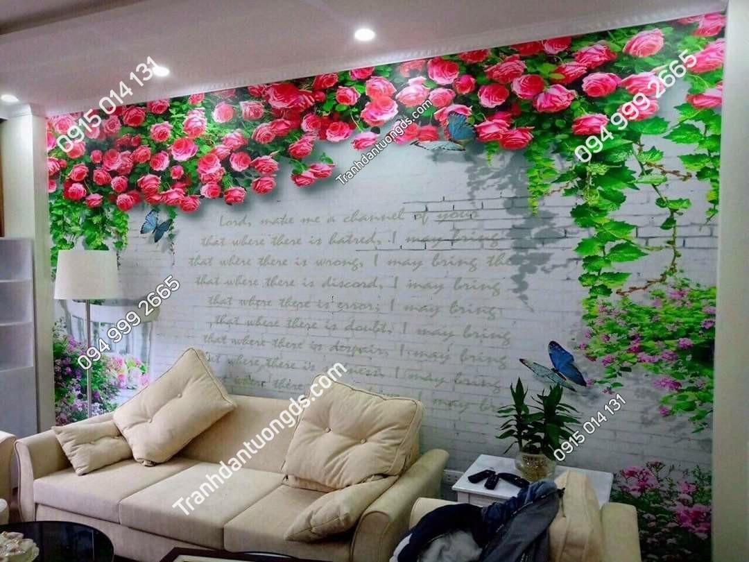 tranh hoa phòng khách