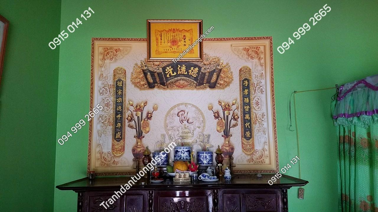 tranh hoành phi câu đối bàn thờ