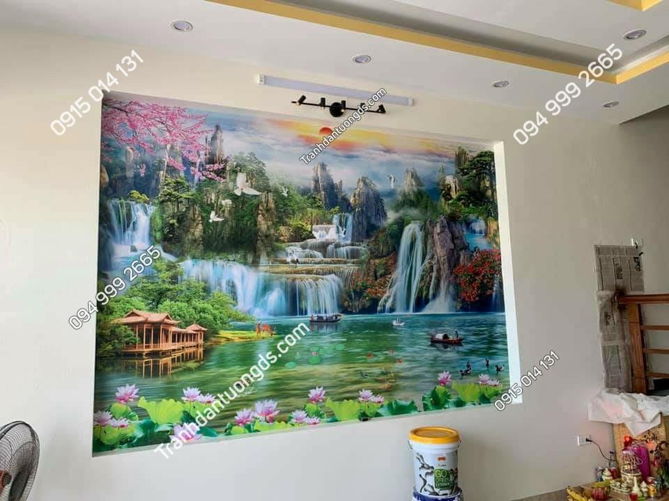 tranh phong cảnh sơn thủy phòng khách