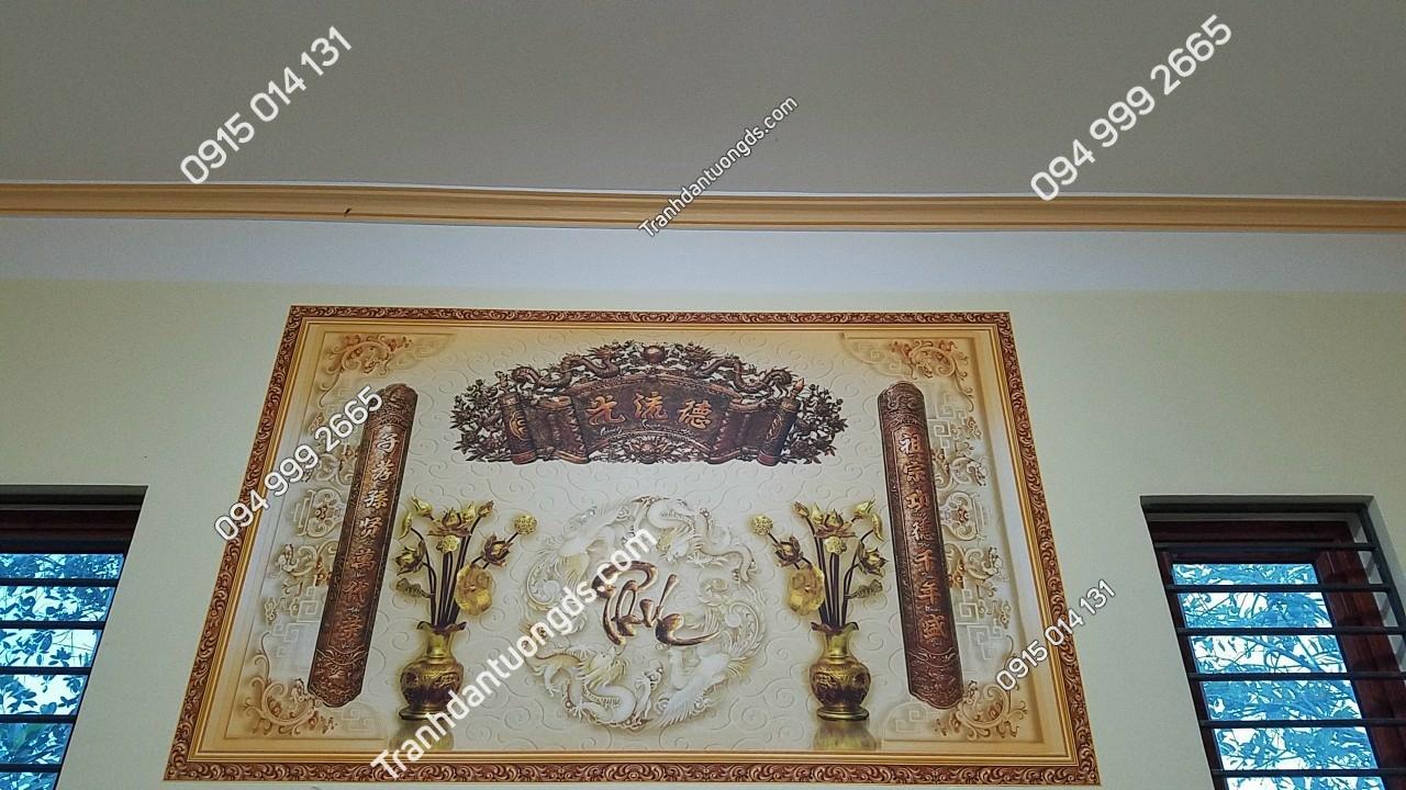 tranh phòng thờ gia tiên