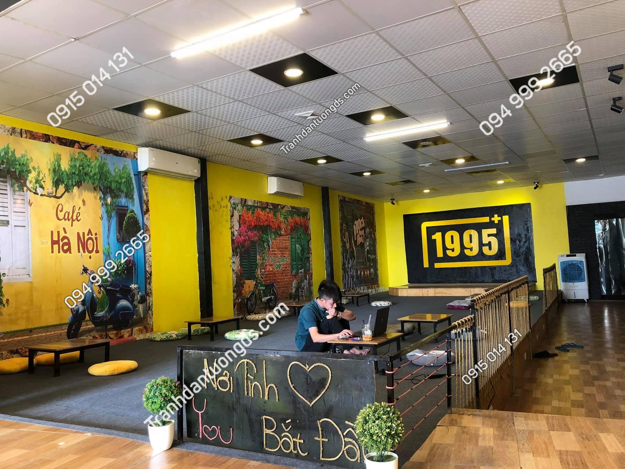 Tranh quán cafe trà chanh