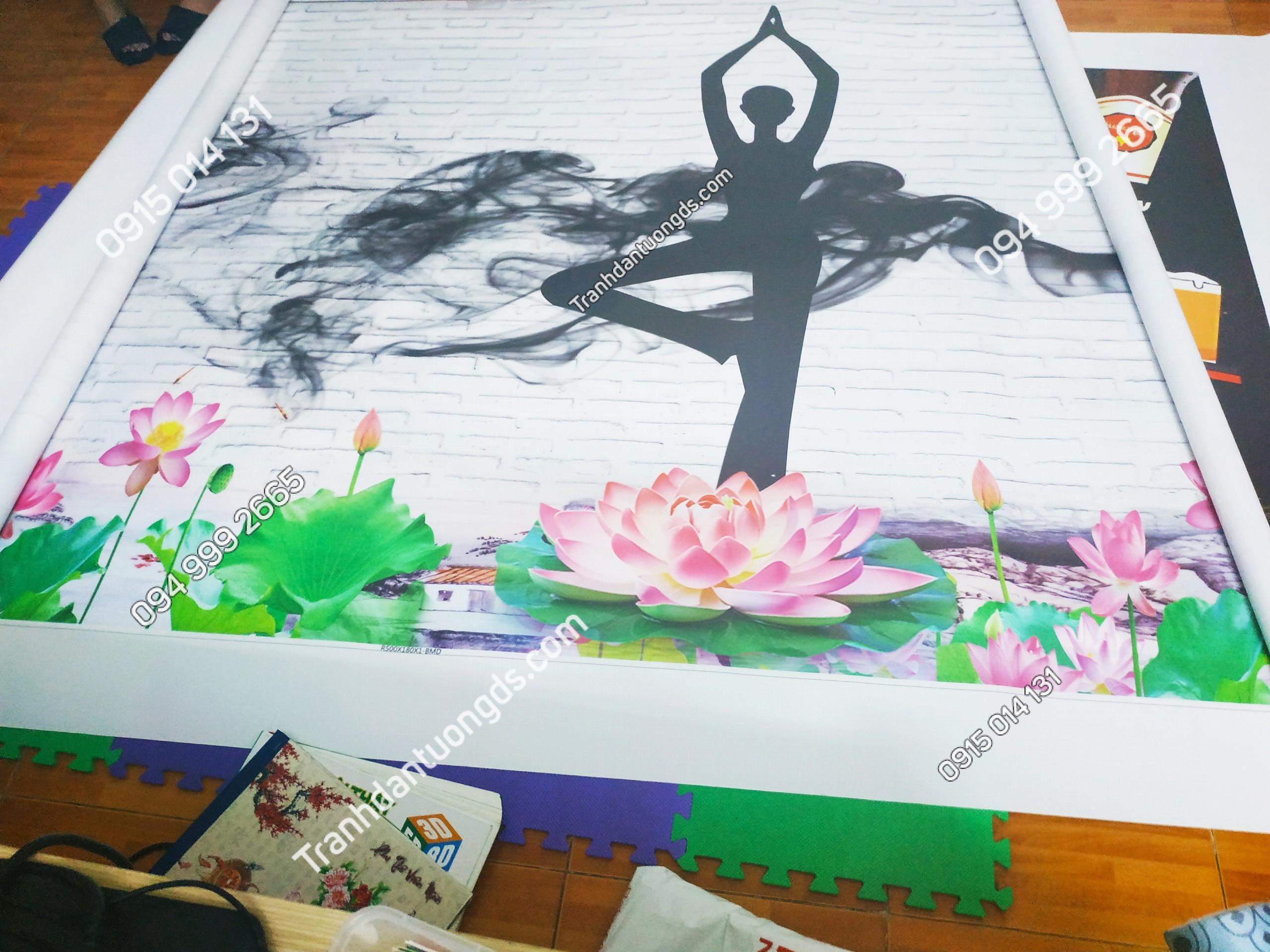 Tranh yoga ánh dương