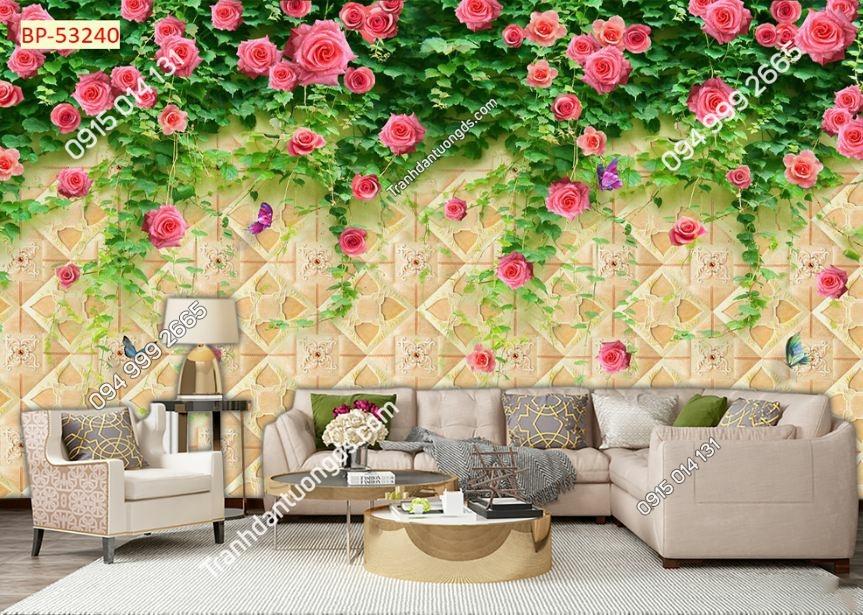 TRanh tường hoa hồng 53240