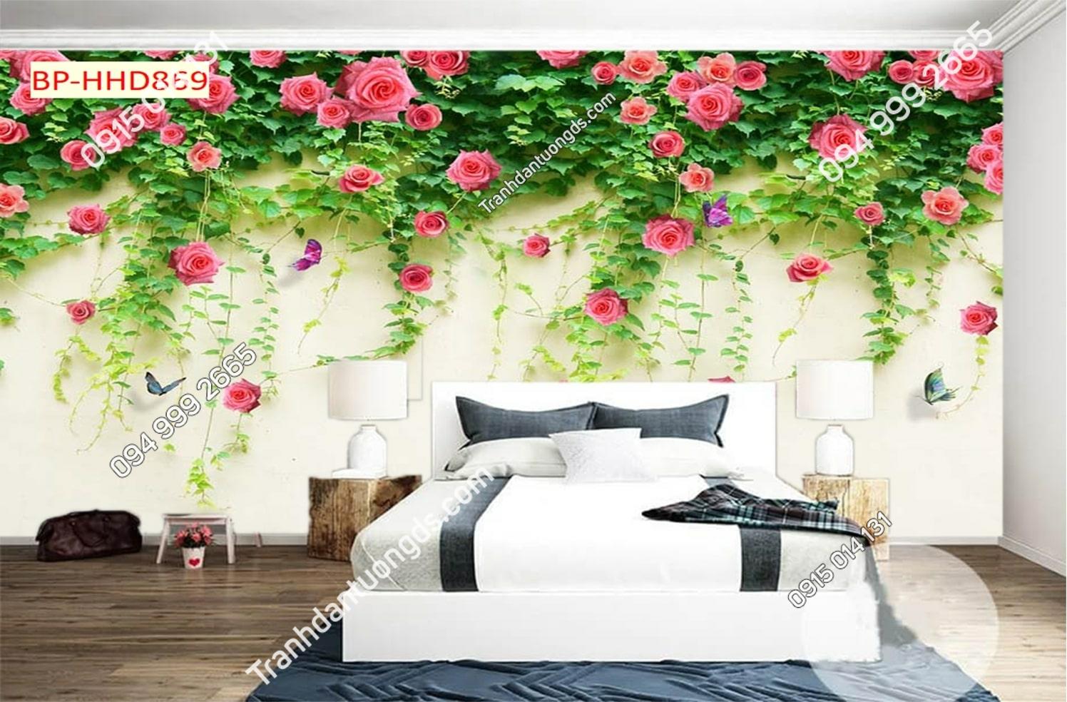 TRanh tường hoa phòng ngủ HHD869