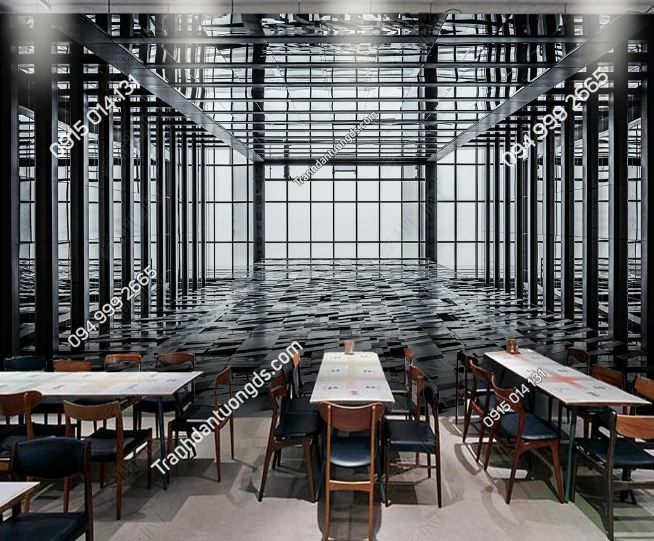TRanh tường nhà sắt 3D cho quán cafe DS_16050580