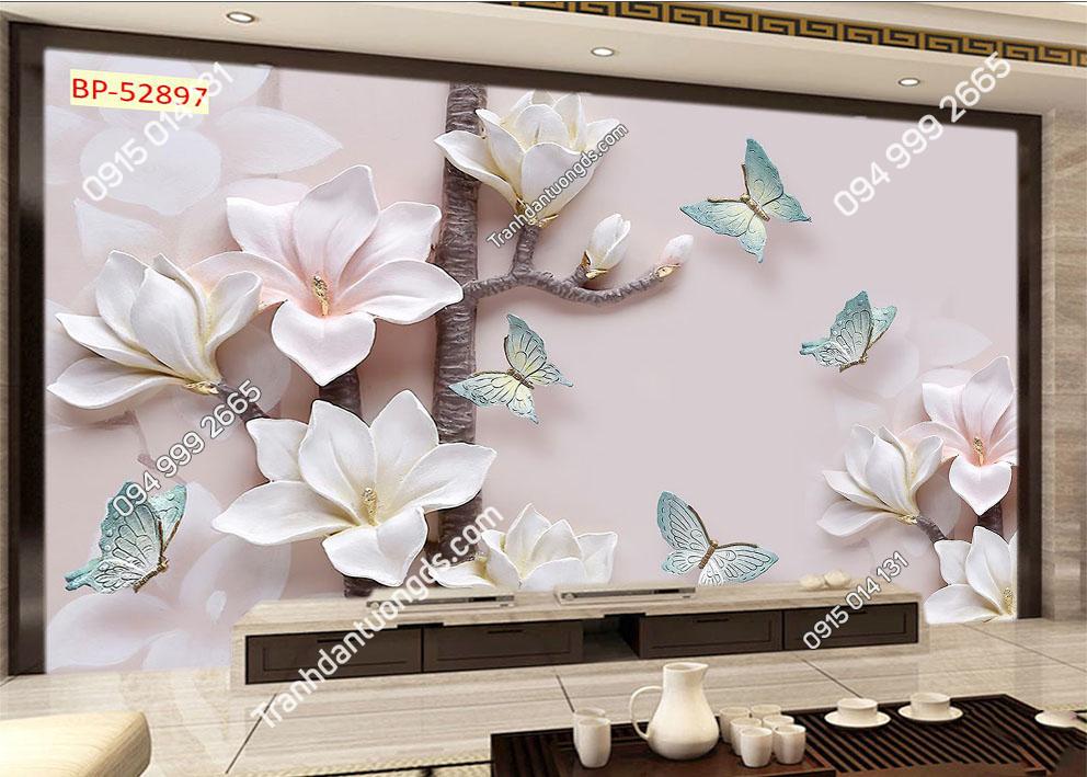 Tranh bướm và hoa hiện đại 52897