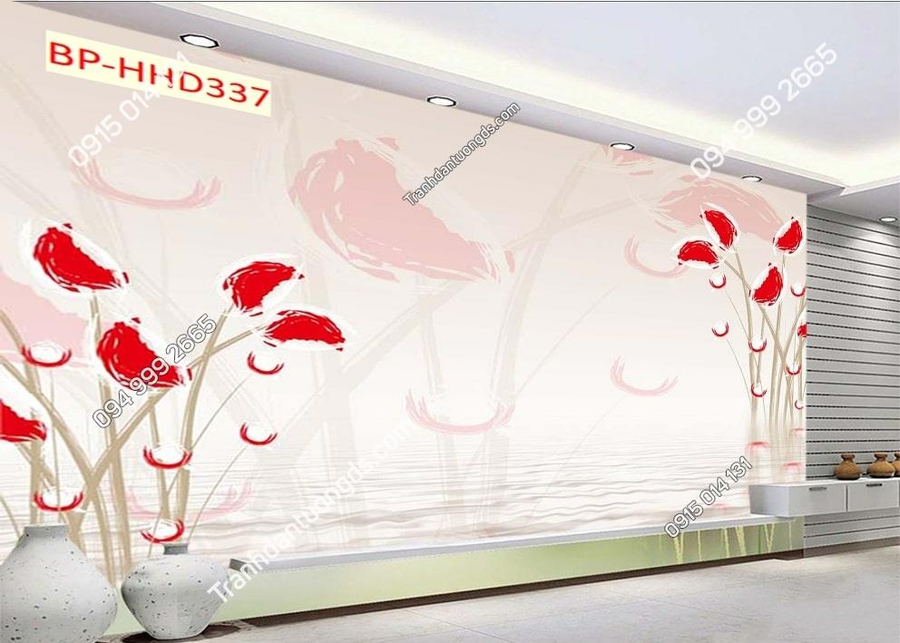 Tranh cánh hoa hồng 3D HHD337