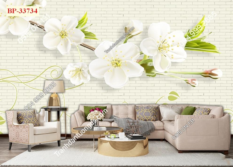 Tranh cành hoa lá hiện đại 33734