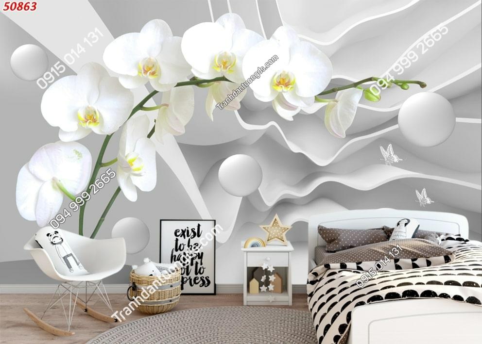 Tranh cành hoa phòng lan 50863