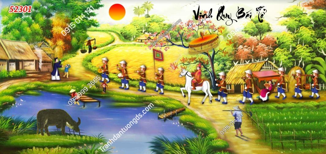 Tranh dán tường Vinh quy bái tổ 52301