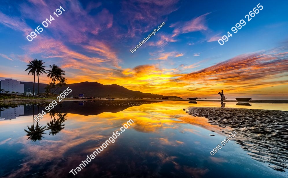 Tranh dán tường bãi biển Mỹ Khê Đà nẵng 345365444