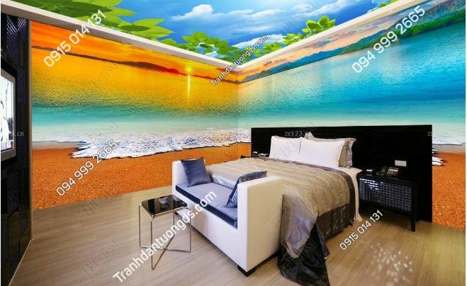 Tranh dán tường bãi biển khổ dài DS_15912682