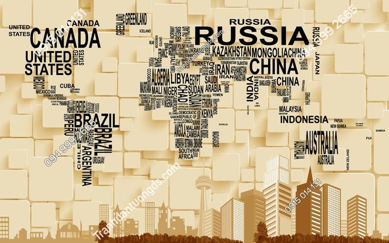 Tranh dán tường bản đồ bằng tên các quốc gia-BD- (6)