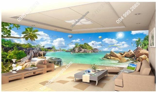 Tranh dán tường cảnh biển khổ dài DS_17436042