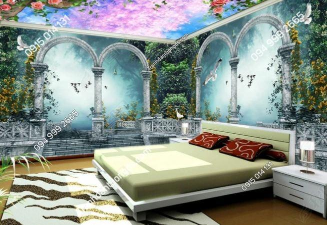 Tranh dán tường cõi mơ khổ dài DS_14450371