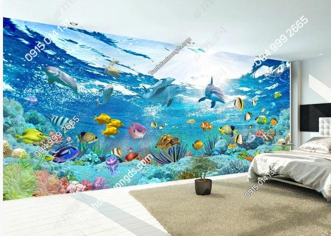 Tranh dán tường đại dương khổ dài DS_16532440