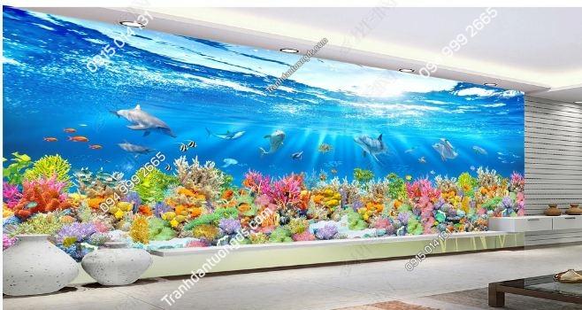 Tranh dán tường đại dương khổ dài DS_17026407