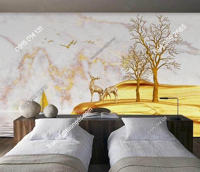 Tranh dán tường giả đá cẩm thạch hiện đại phòng ngủ_23454573