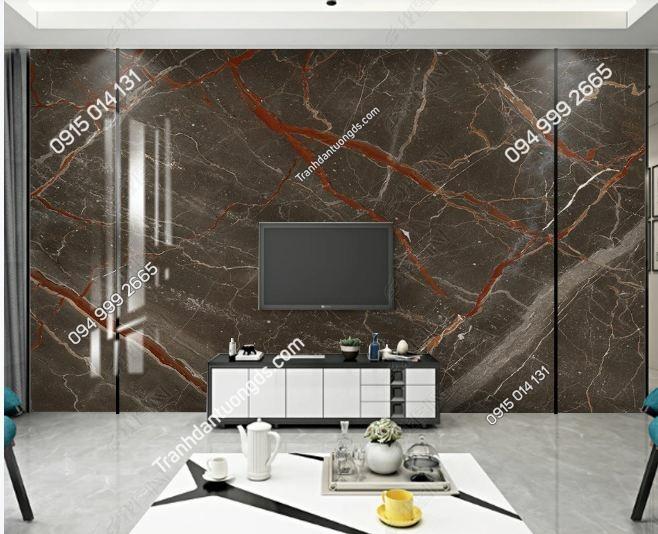 Tranh dán tường giả đá cẩm thạch màu nâu _25385501