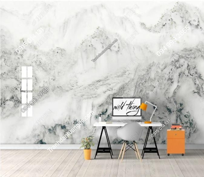 Tranh dán tường giả đá cẩm thạch trắng_18560797